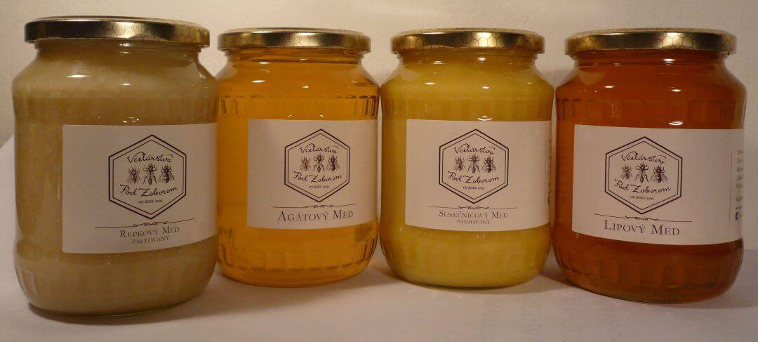Repkový, agátový, slnečnicový a lipový med